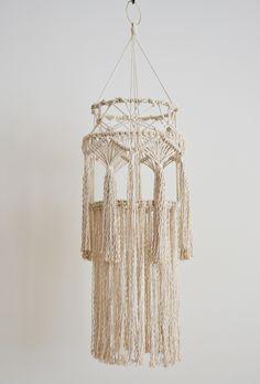 THE FOREST FERN Modern Fiber Art - Macrame Lantern