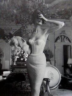 Vintage Lingerie Photo for Triumph Lingerie ad campaign by Jerry Plucer-Sarna, 1950 Vintage Glamour, Vintage Beauty, Vintage Lingerie, Vintage Fashion, Vintage Underwear, Vintage Corset, Luxury Lingerie, 1950s Fashion, Lace Corset