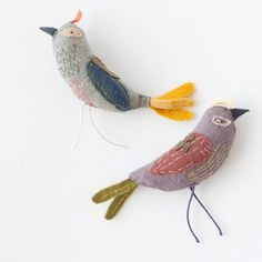 Fabric animaldApolline(アポリーヌ) Brooch Bird ブローチ  (トリ) - LILI et NENE Official