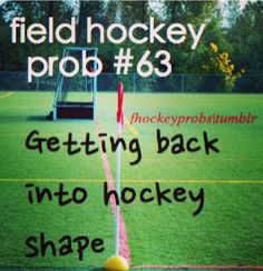 There is nothing that can ever really prepare you to get into hockey shape without playing hockey! Its one of the hardest things to do Field Hockey Quotes, Field Hockey Drills, Hockey Memes, Hockey Goalie, Sport Quotes, Funny Hockey, Ice Hockey, Field Hockey Problems, Hockey Season