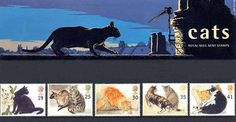 1995 Cats Presentation Pack (printed no. Royal Mail Stamps, All Types Of Cats, What's New Pussycat, Mail Art, Postage Stamps, Presentation, World, Prints, Cat Stuff