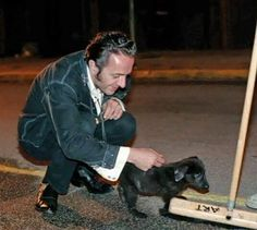 Joe Strummer and a puppy. Because Mellor is the cutest!