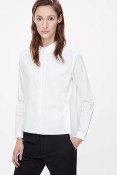COS | Split-front cotton shirt