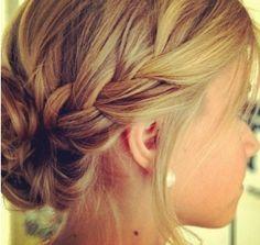 Formal braided updo @Ellie + Ava Plass prom hair?