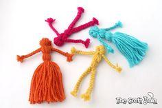 Braided yarn dolls