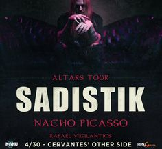 Rage with underground rapper Sadistik at Cervantes' Other Side this Sunday!