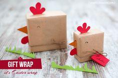 Cute chicken gift wrapping.  http://vixyblu.blogspot.ro/2013/04/diy-ambalaje-pentru-paste-1-din-4.html