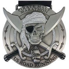 Pirate Half Marathon finisher medal.  http://usroadrunning.com