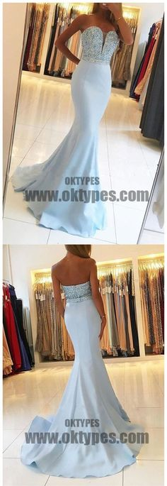 Long Floor Length Prom Dresses, Beading Prom Dresses, Sweetheart Prom Dresses, Backless Prom Dresses, TYP0348 #promdresses