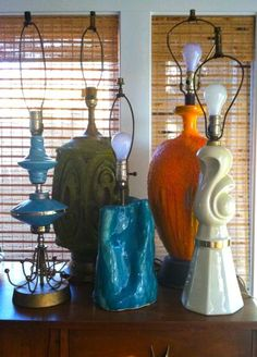 San Francisco: Collection lot of mid century lamps lights vintage modern retro eames $250 - http://furnishlyst.com/listings/1103892