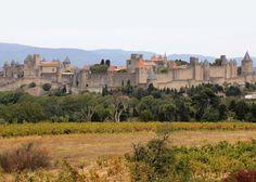 Castillos de Francia. Este castillo, Cite de Carcassonne, puede ser mejor considerado como un pueblo fortificado. Es una de las más antiguas y definitivamente de las más impresionantes fortalezas de Francia. La ciudadela se encuentra ubicada entre rutas que recorrían Francia de norte a sur, y fue ocupada por más de 5,000 años, tanto por franceses, como romanos, y visigodos en el siglo V.