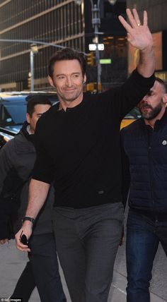 Star in the city: The Australian actor was snapped earlier this month making the promotional rounds for his latest film, Logan