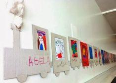 kindergarten project every kid a portrait in a wagon of the train Preschool Classroom, Preschool Crafts, Classroom Decor, Decoration Creche, Class Decoration, Jim Knopf, Cadre Photo Original, Diy For Kids, Crafts For Kids