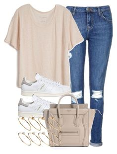 """""""Style #10431"""" by vany-alvarado ❤ liked on Polyvore featuring Topshop, Fine Collection, adidas and ASOS"""