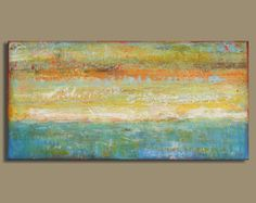 abstract painting of ocean abstract ocean by SageMountainStudio, $125.00