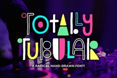 An incredibly fun, hand-drawn retro font that comes with an outline version to mix and match. Totally Tubular can be used for Business Brochure, Business Card Logo, Texture Web, Create Font, Kid Fonts, Web Design, Graphic Design, Font Packs, Design Typography
