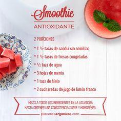 #Smoothie #Antioxidante #Sandía #Fresa