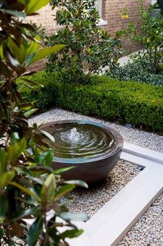 small garden Water Garden Fountains Th - garden Small Courtyard Gardens, Small Courtyards, Small Gardens, Outdoor Gardens, Water Gardens, Courtyard Ideas, Zen Gardens, Balcony Garden, Garden Plants