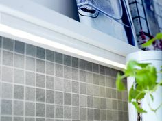 LED light uses up to 80% less energy compared to incandescent bulbs and last up to 20 times longer. Add of few of these RATIONELL lights in your kitchen to light up your countertops for early mornings and late nights!