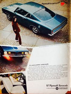 """1967 Plymouth Barracuda  """"Plymouth is out to win you over."""""""