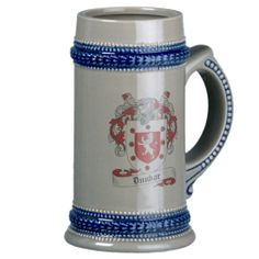 Family Code of Arms Dunbar | Dunbar Coat of Arms Stein - Family Crest Coffee Mug from Zazzle.com
