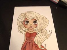 How to colour on Kraft paper with Promarkers. - YouTube