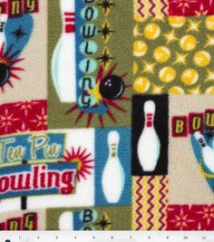 Anti Pill Fleece Print- Bowling# 11805207