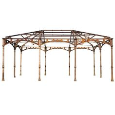 Cast and Wrought-Iron Market Hall Frame | From a unique collection of antique and modern garden furniture at http://www.1stdibs.com/furniture/building-garden/garden-furniture/