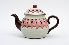 White Rose Tea Pot by BulgarUSA on Etsy, $40.00