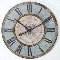 Wood Wall Clock   Clock With Roman Numerals   Big Wall Clock