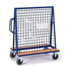 GTARDO.DE:  Werkstückwagen, Tragkraft 500 kg, Maße 1350x800 mm, Ladefläche 2x1200x200 mm 398,00 €