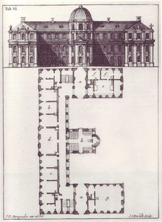 Letter E from Steingrubers 1773 Architectonisches Alphabeth.