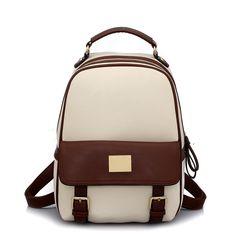 2014 New Design Korean Women's Backpack Leather Lovely Girl's Preppy Style Student bag 4 color Bag Vintage ca13n393 BIG SALES