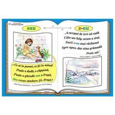 "Plansa Ortograma ""n-ati"" / cuvintele ""nu"" si ""ati"" Romanian Language, Class Decoration, Grammar, Classroom, Teaching, School, Craft, Literatura, Learning To Write"