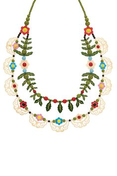 Alpine Flower Statement Necklace, £345: http://www.tattydevine.com/shop/collections/aw14/alpine-flower-statement-necklace.html