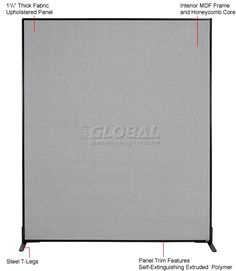 Interion® Freestanding Office Partition Panel, x Gray Office Partition Panels, Stone Tile Flooring, Free Standing Wall, Basement Apartment, Mdf Frame, Breastfeeding And Pumping, What Is Need, Room Dividers, Cool Fabric