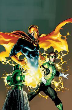 Dr Fate and Green Lantern Hal Jordan by Jesús Saíz Arte Dc Comics, Dc Comics Heroes, Dc Comics Characters, Green Lantern Hal Jordan, Green Lantern Corps, Green Lanterns, Comic Book Covers, Comic Books Art, Comic Art