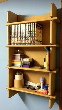 Cardboard Shelving...oh yeah, only pictorial but its good.