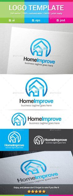 Home Improvement Logo Template #design #logotype Download: http://graphicriver.net/item/home-improvement-logo/12760661?ref=ksioks
