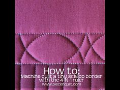 How to machine quilt a tiny scallop border using the 4-N-1 machine quilting ruler, designed by Natalia Bonner. The 4-N-1 ruler is available for purchase at w...