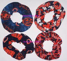 4 Chicago Bears Fabric Hair Scrunchies NFL by Scrunchiesbysherry, $16.00