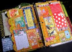 my art journal to be as beautiful as this one.  I like the idea of a binder journal.