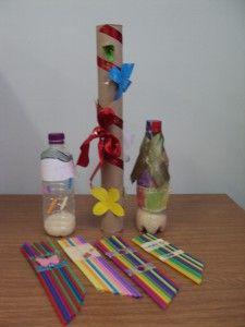 Μαράκες από πλαστικά μπουκάλια