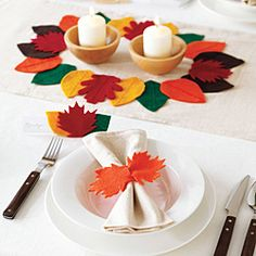 How to make a Thanksgiving table runner