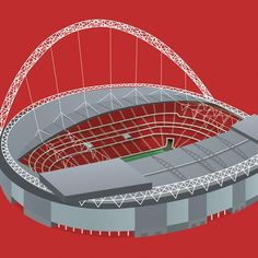 The home of England football. Stadium Architecture, England Football, Football Art, Wembley Stadium, User Interface, Illustrations Posters, Bud, I Shop, Art Print