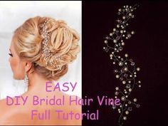 DIY Bridal Crystals & Pearls Tiara Hair Vine Headband Crown Bridal Hair ...