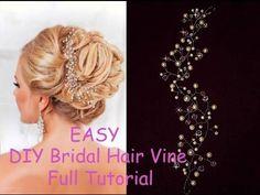 DIY Bridal Crystals & Pearls Tiara Hair Vine Headband Crown Bridal Hair ...