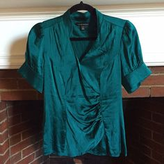 "Selling this ""Emerald teal silk Banana Republic blouse"" in my Poshmark closet! My username is: angrylilchemist. #shopmycloset #poshmark #fashion #shopping #style #forsale #Banana Republic #Tops"