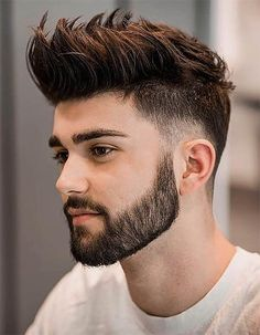 Low Fade with Beard - Men's Long Hair With Undercut Hairstyles