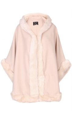 Fur Hooded Cape by Ravi Famous designed in United Kingdom